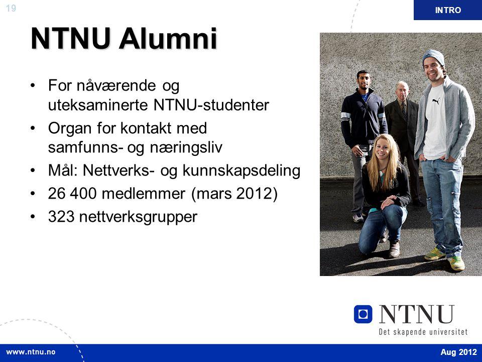 NTNU Alumni For nåværende og uteksaminerte NTNU-studenter