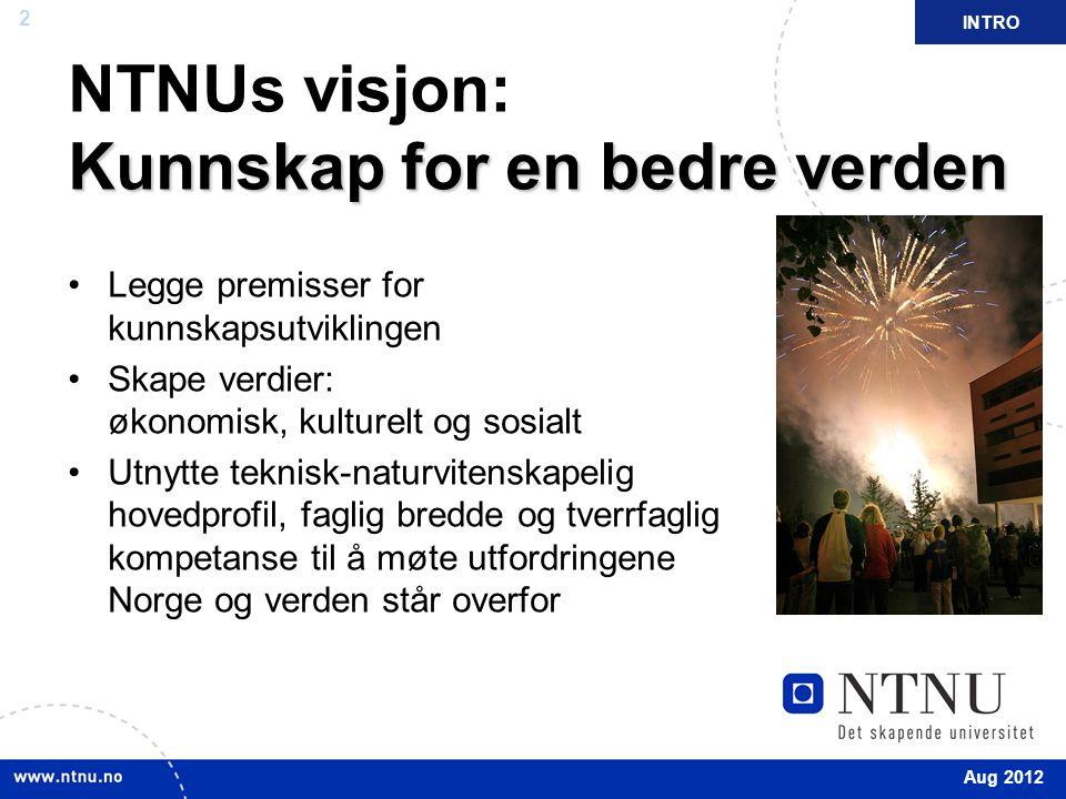 NTNUs visjon: Kunnskap for en bedre verden