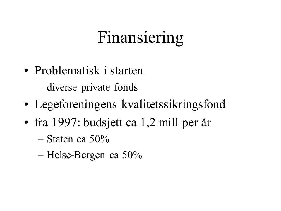 Finansiering Problematisk i starten