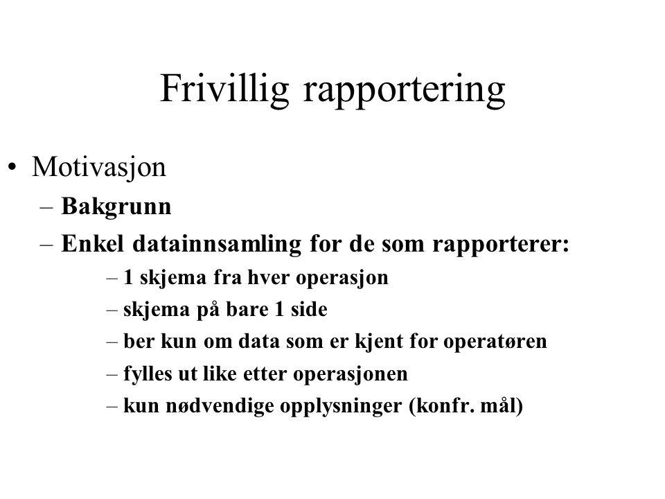 Frivillig rapportering
