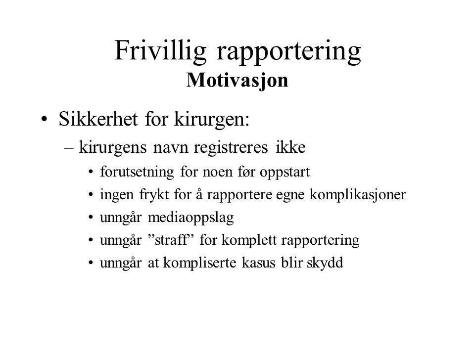 Frivillig rapportering Motivasjon