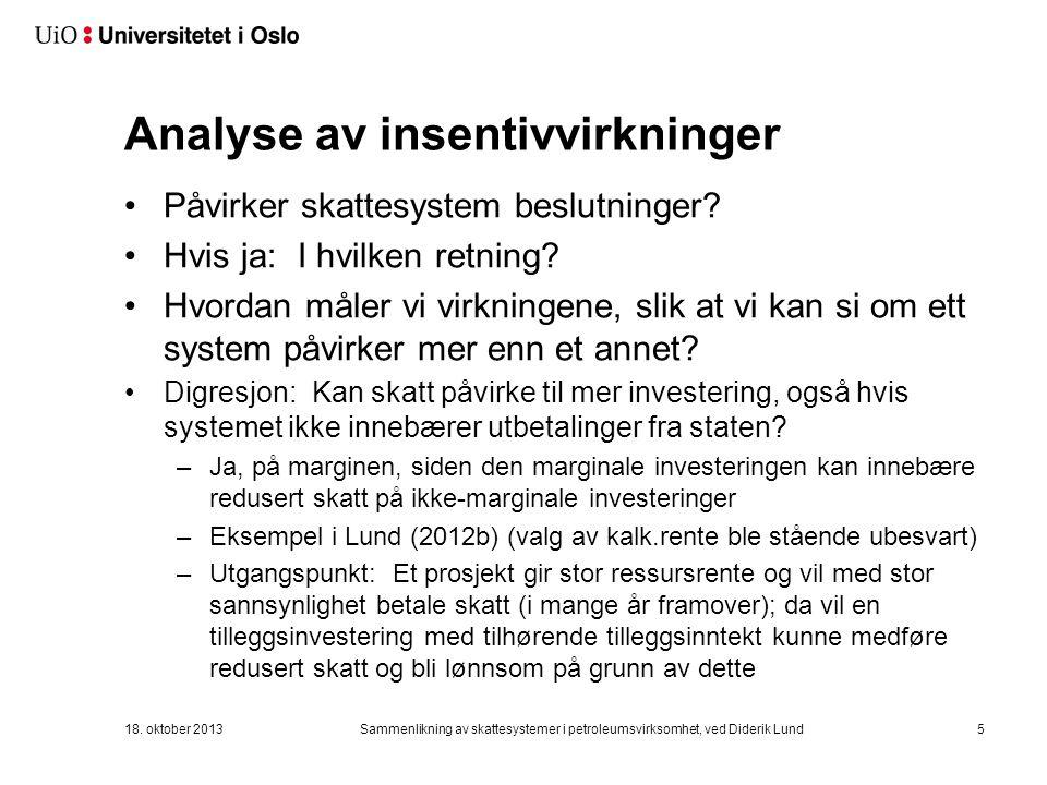 Analyse av insentivvirkninger