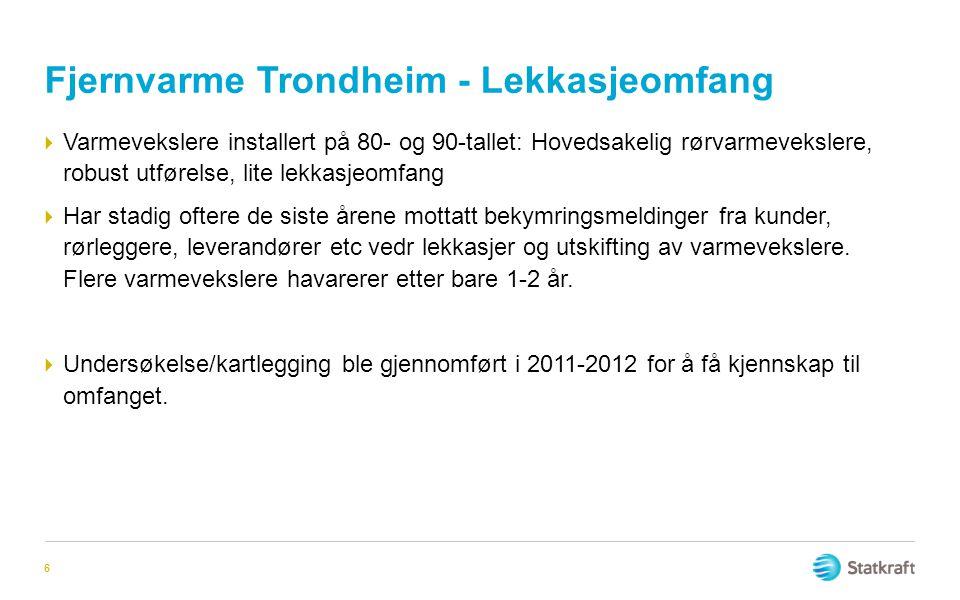 Fjernvarme Trondheim - Lekkasjeomfang
