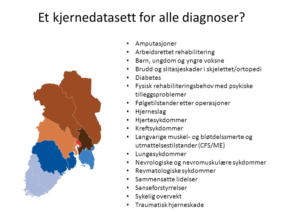 Et kjernedatasett for alle diagnoser