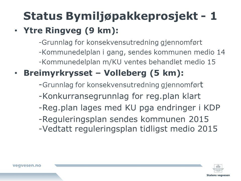 Status Bymiljøpakkeprosjekt - 1