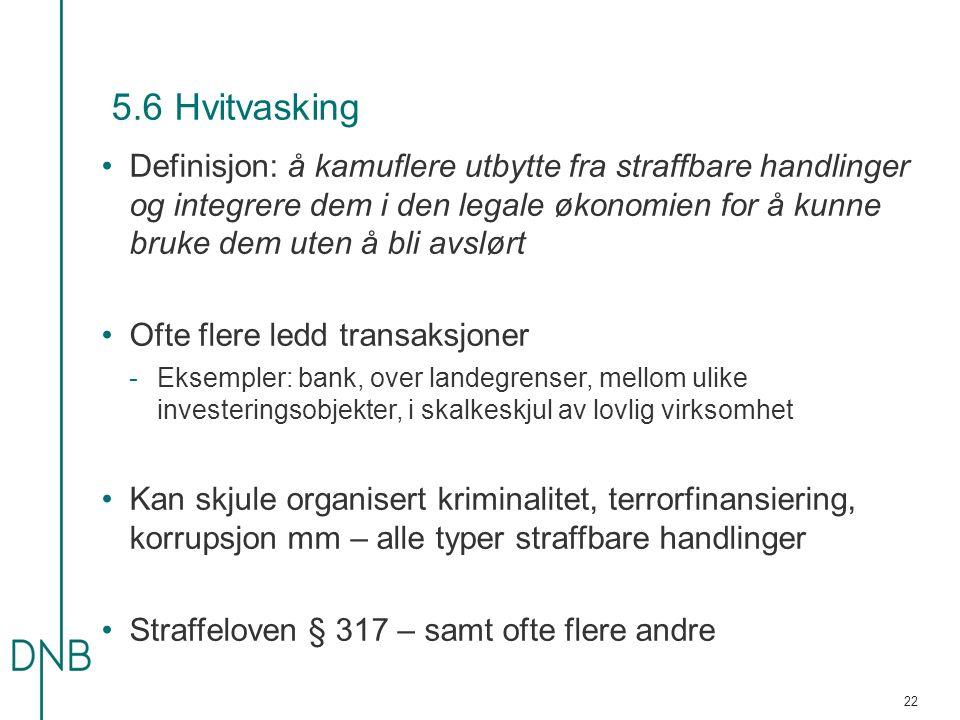 5.6 Hvitvasking