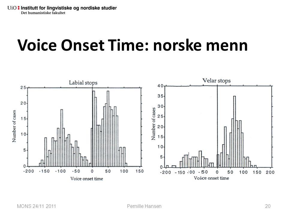 Voice Onset Time: norske menn