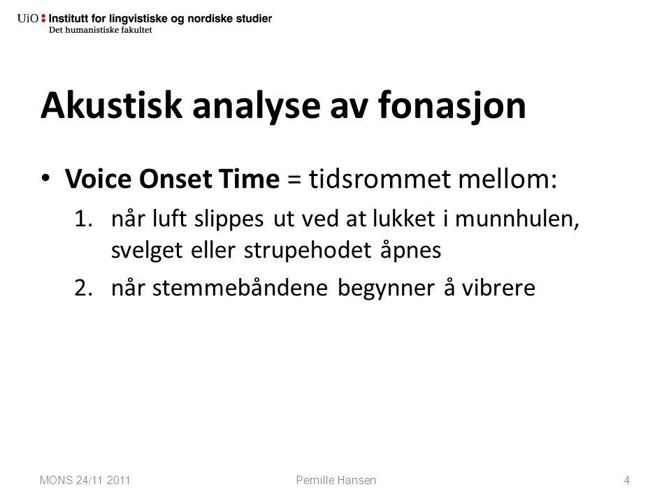 Akustisk analyse av fonasjon
