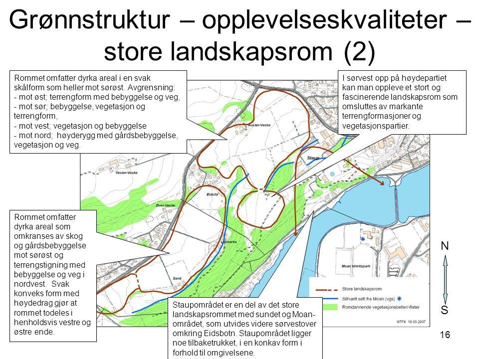 Grønnstruktur – opplevelseskvaliteter – store landskapsrom (2)