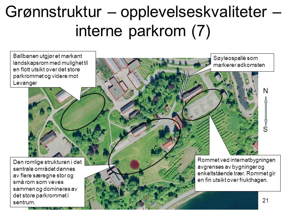 Grønnstruktur – opplevelseskvaliteter – interne parkrom (7)
