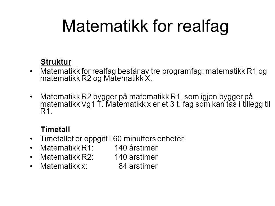 Matematikk for realfag