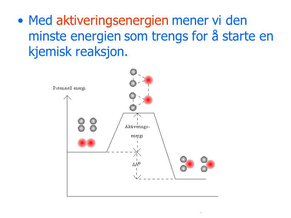 Med aktiveringsenergien mener vi den minste energien som trengs for å starte en kjemisk reaksjon.