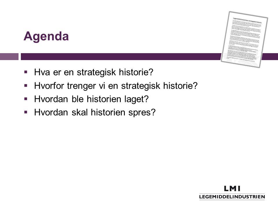 Agenda Hva er en strategisk historie