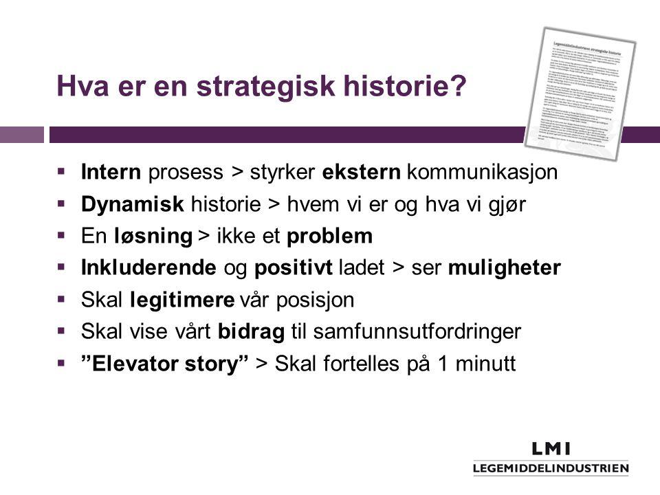 Hva er en strategisk historie