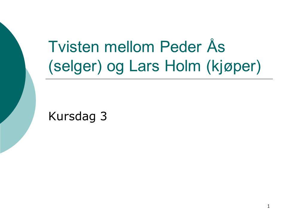 Tvisten mellom Peder Ås (selger) og Lars Holm (kjøper)