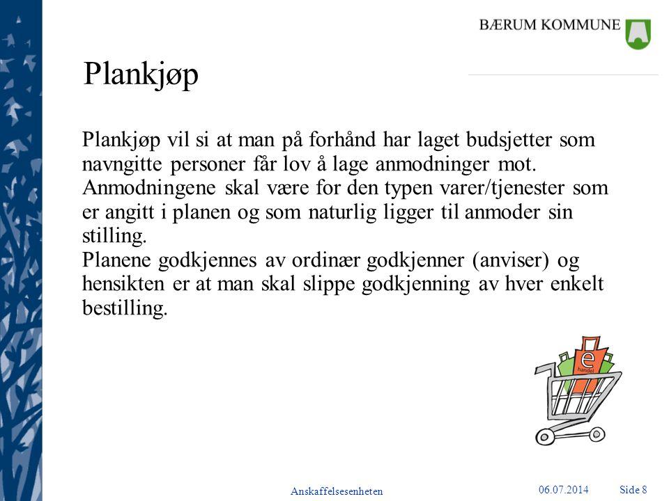 Plankjøp Plankjøp vil si at man på forhånd har laget budsjetter som navngitte personer får lov å lage anmodninger mot.