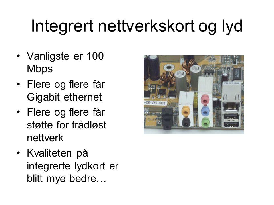 Integrert nettverkskort og lyd
