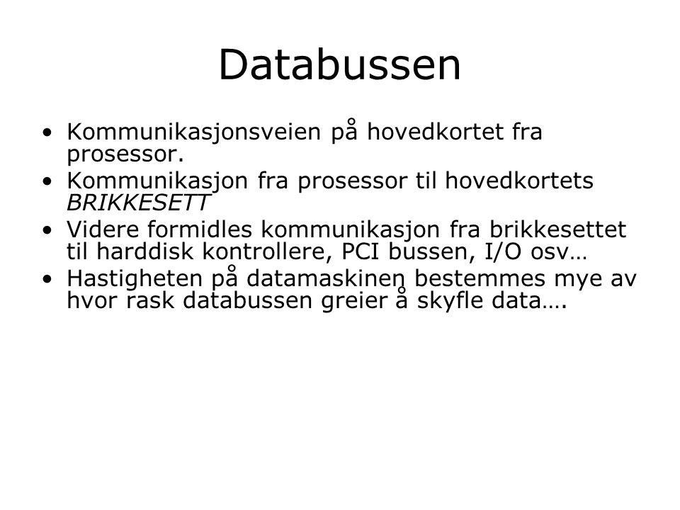 Databussen Kommunikasjonsveien på hovedkortet fra prosessor.