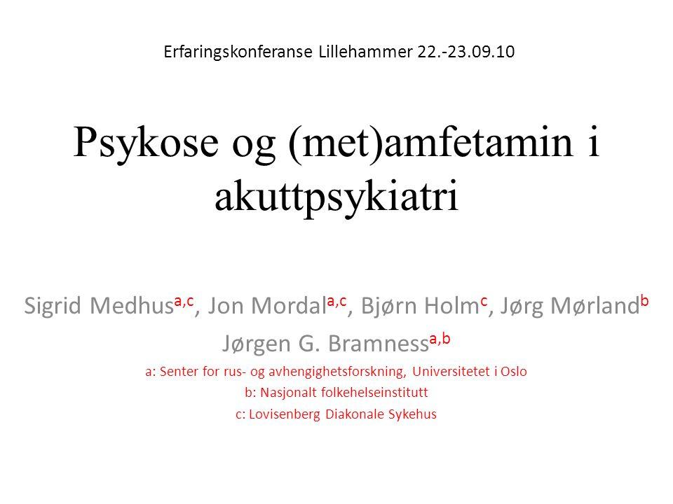 Psykose og (met)amfetamin i akuttpsykiatri