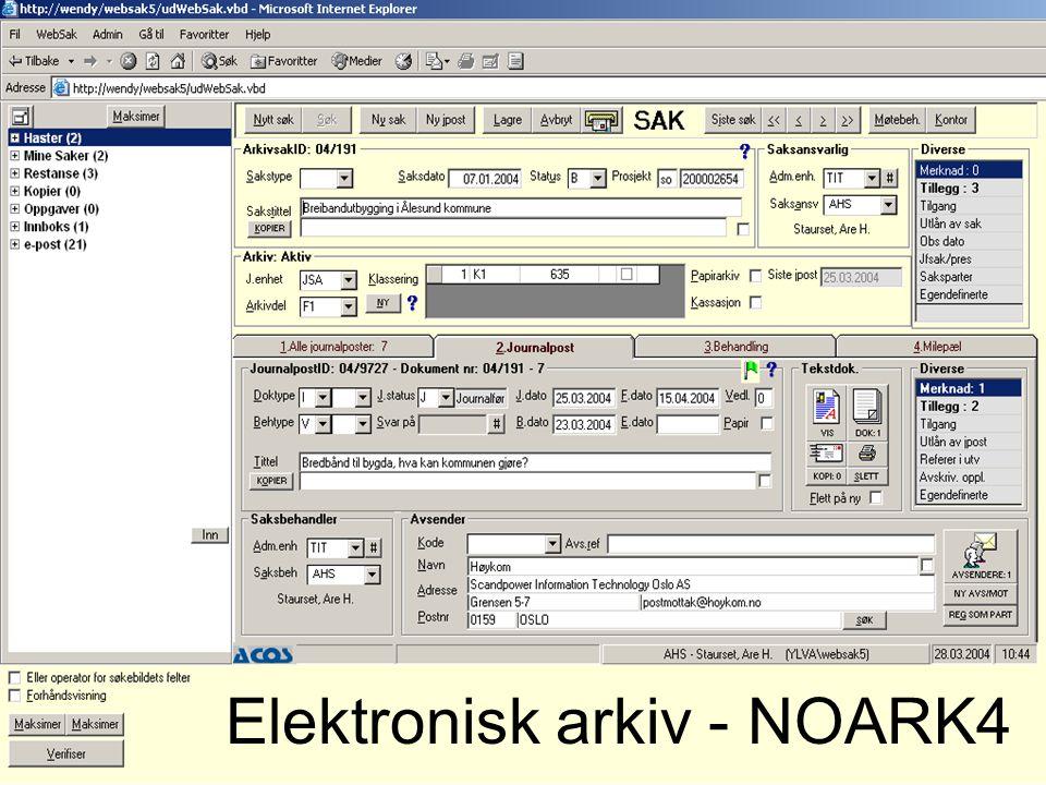 Elektronisk arkiv - NOARK4