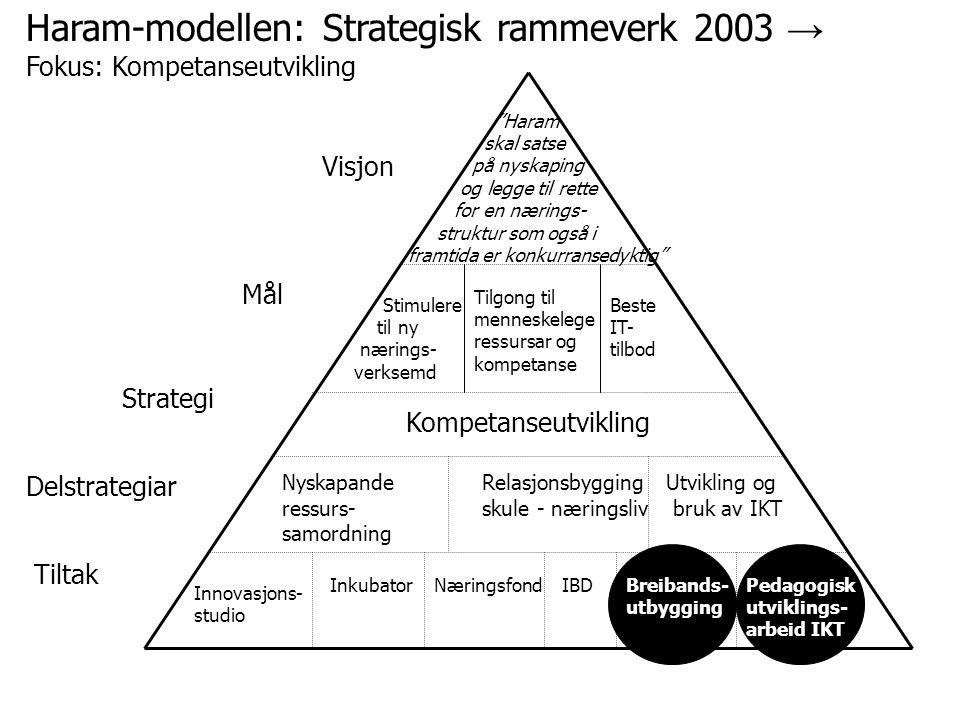 Haram-modellen: Strategisk rammeverk 2003 → Fokus: Kompetanseutvikling
