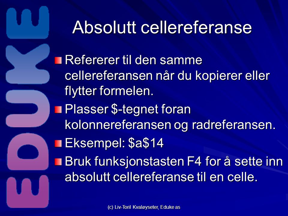 Absolutt cellereferanse