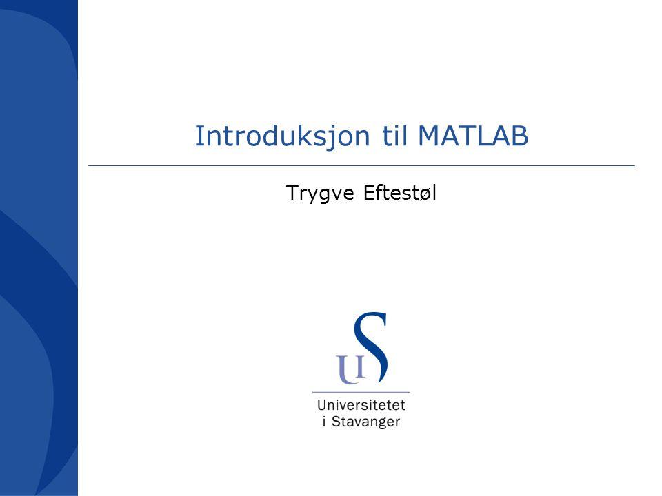 Introduksjon til MATLAB