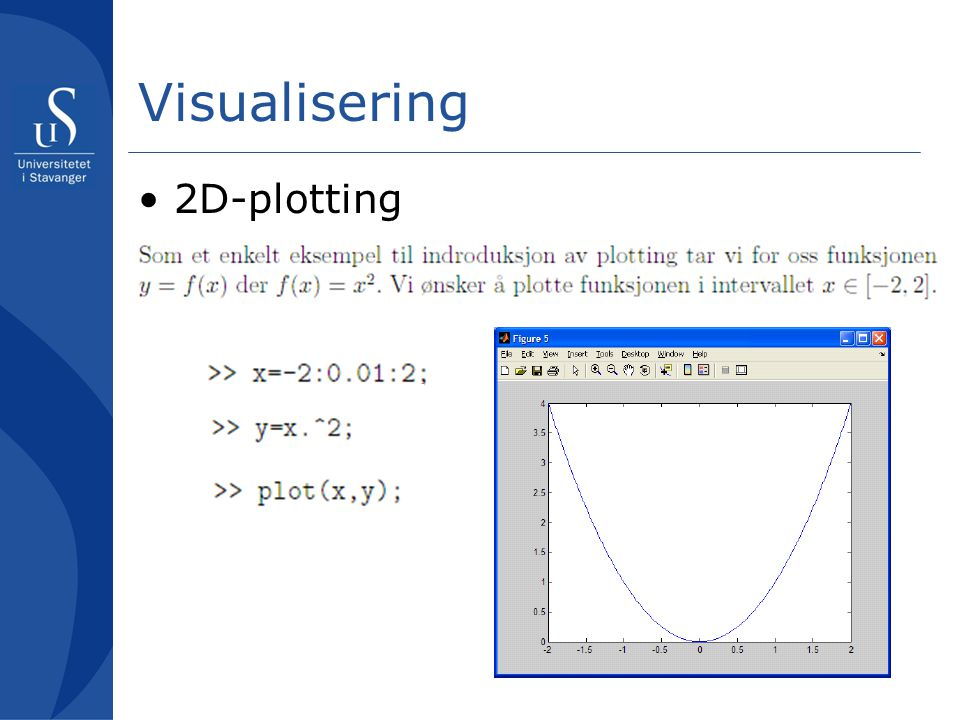 Visualisering 2D-plotting