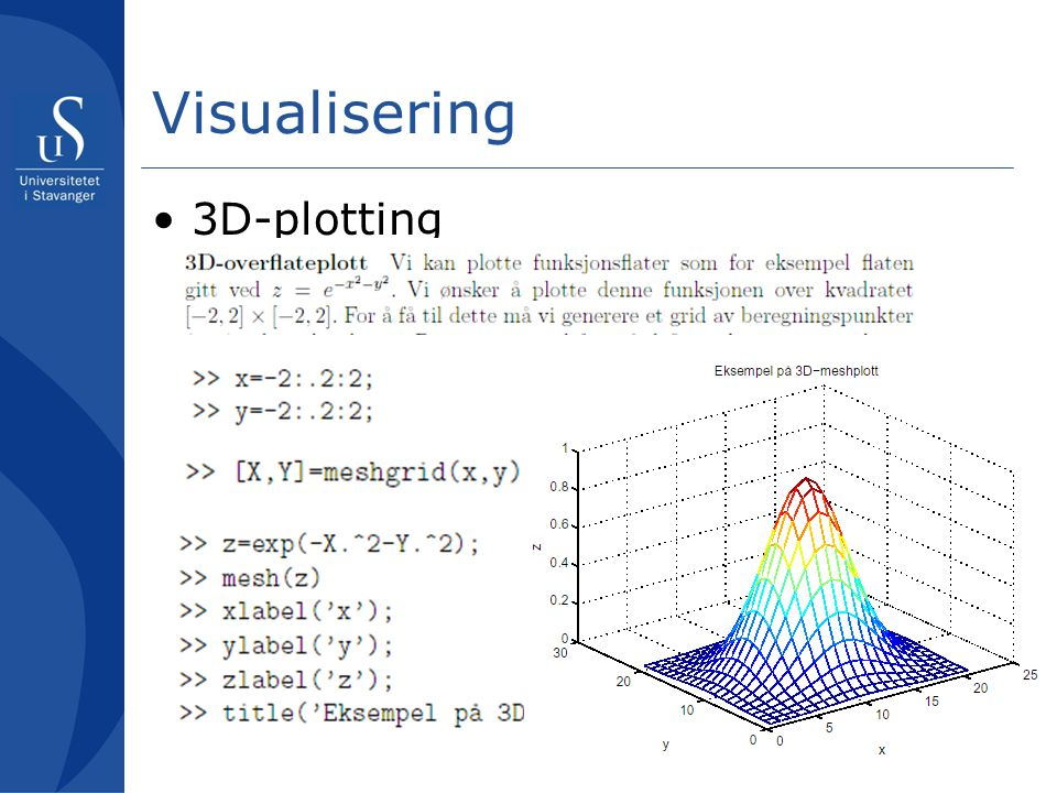 Visualisering 3D-plotting