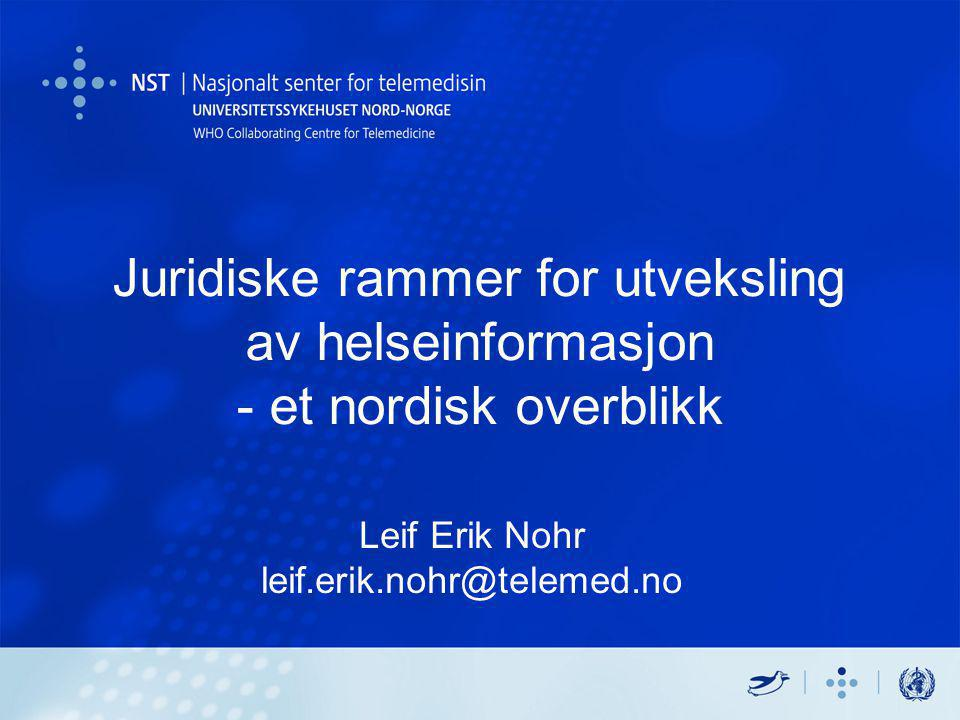 Leif Erik Nohr leif.erik.nohr@telemed.no