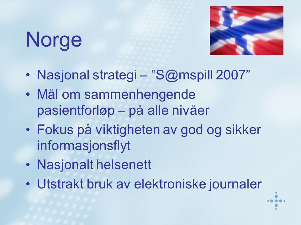 Norge Nasjonal strategi – S@mspill 2007