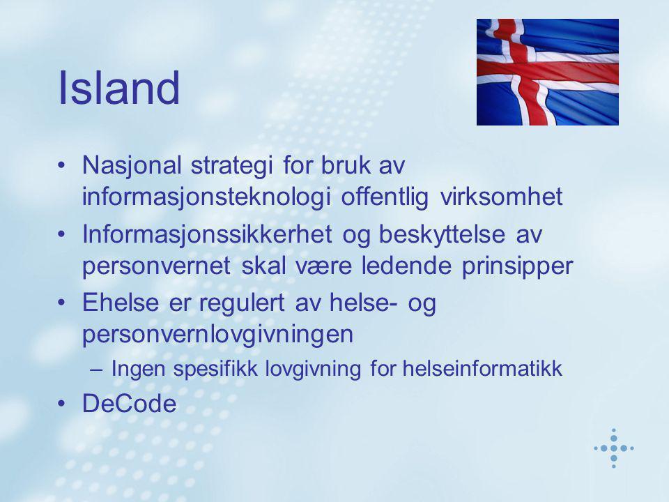 Island Nasjonal strategi for bruk av informasjonsteknologi offentlig virksomhet.