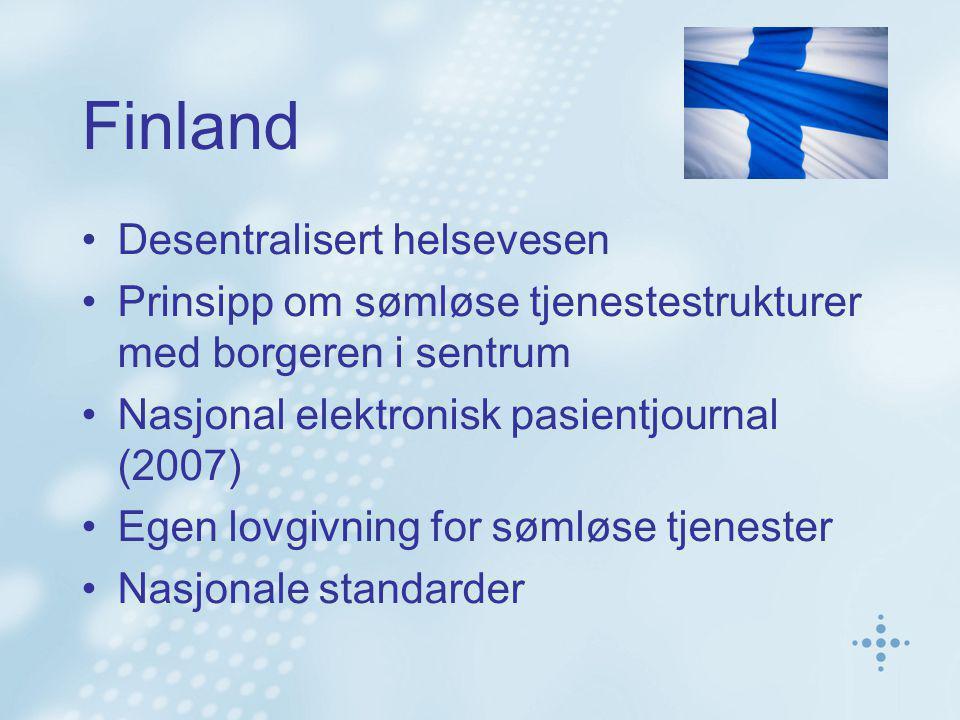 Finland Desentralisert helsevesen