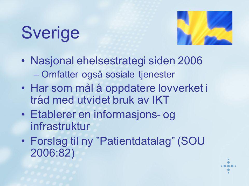 Sverige Nasjonal ehelsestrategi siden 2006
