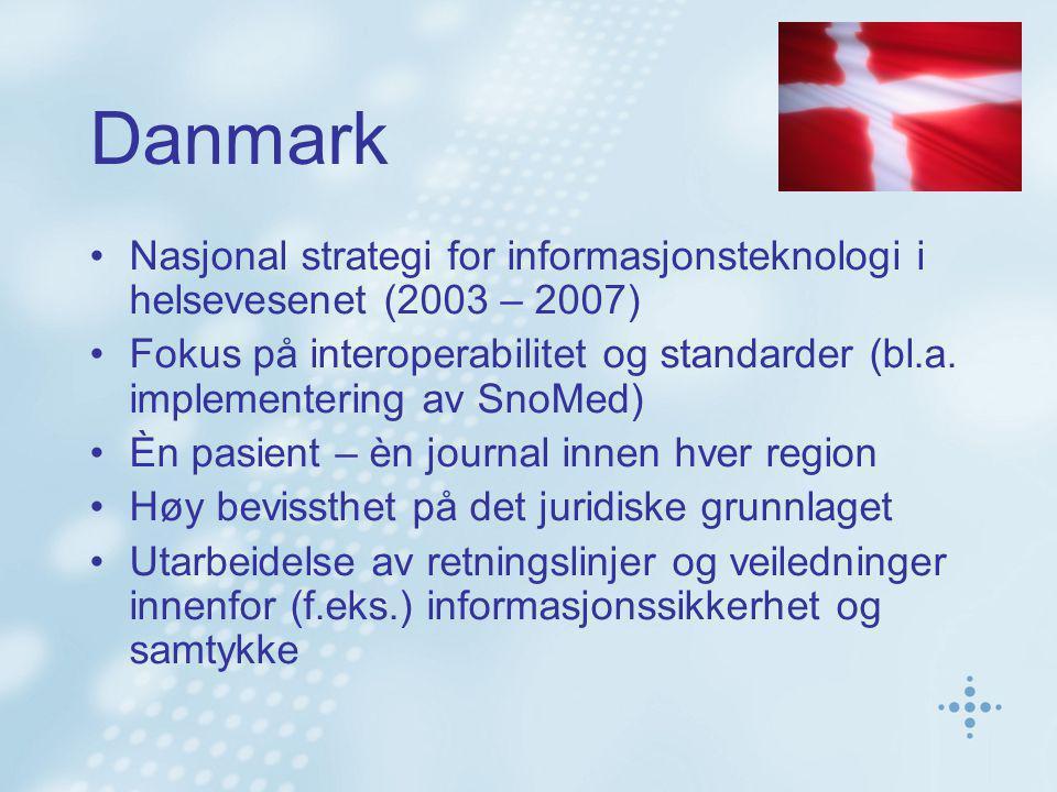 Danmark Nasjonal strategi for informasjonsteknologi i helsevesenet (2003 – 2007)