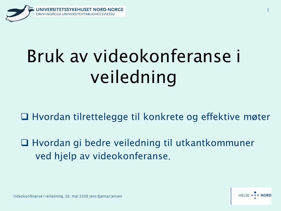 Bruk av videokonferanse i veiledning