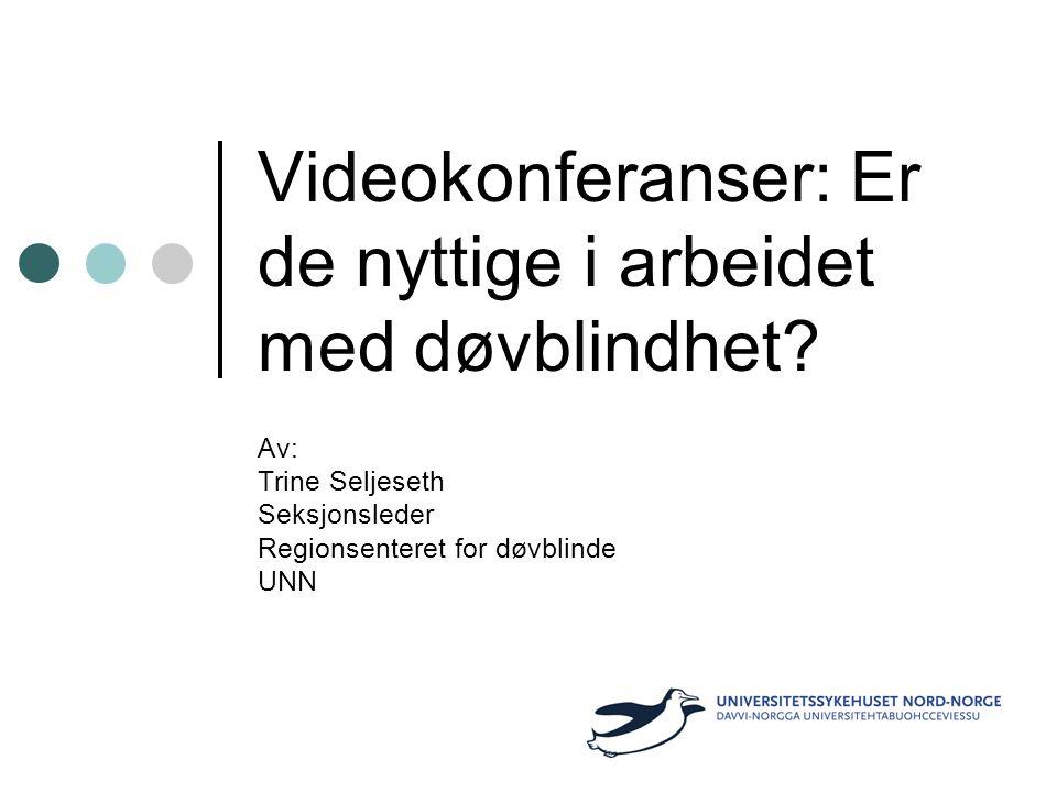 Videokonferanser: Er de nyttige i arbeidet med døvblindhet