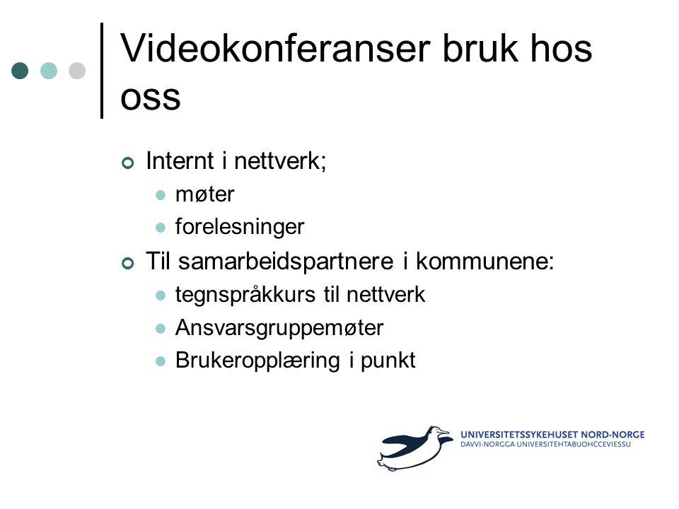 Videokonferanser bruk hos oss