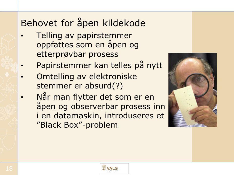 Behovet for åpen kildekode