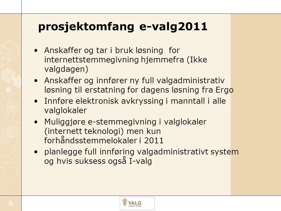 prosjektomfang e-valg2011