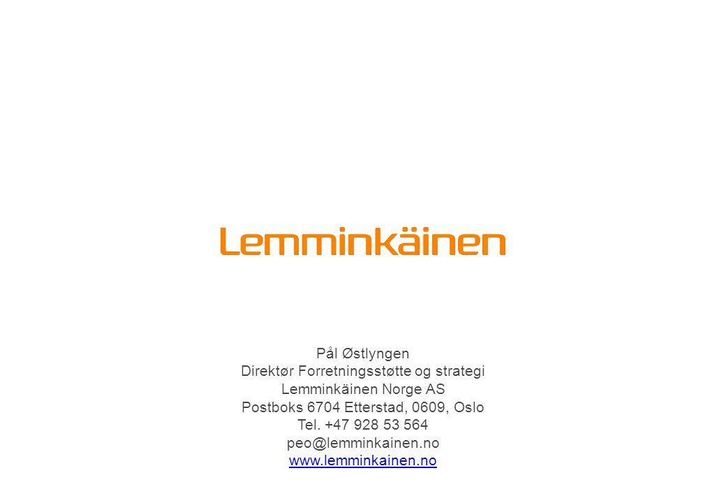 Direktør Forretningsstøtte og strategi Lemminkäinen Norge AS