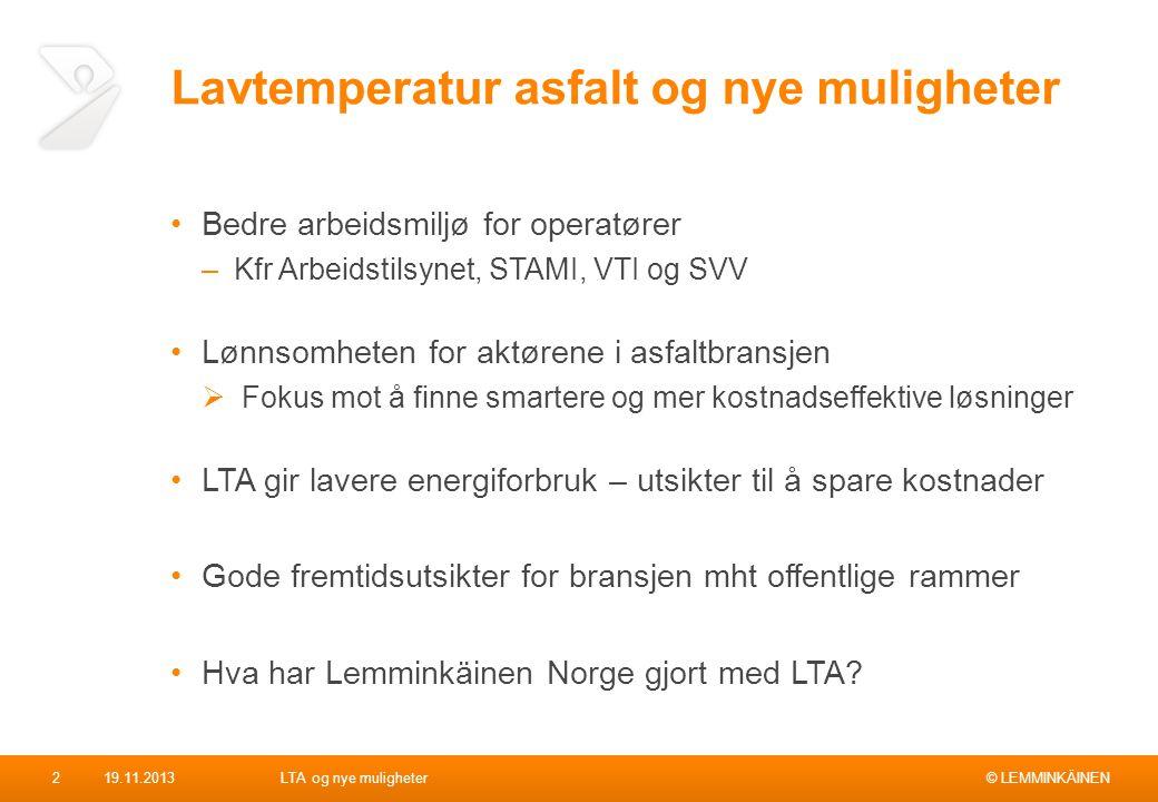 Lavtemperatur asfalt og nye muligheter