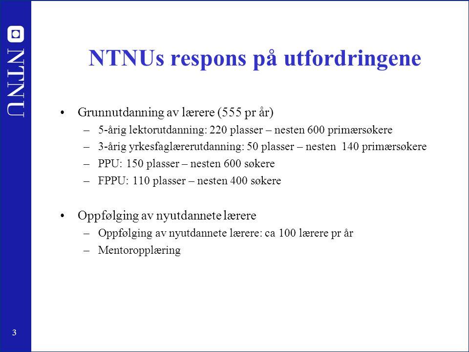 NTNUs respons på utfordringene