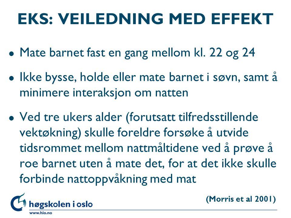 EKS: VEILEDNING MED EFFEKT