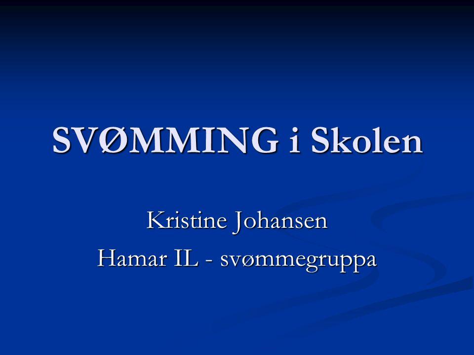 Kristine Johansen Hamar IL - svømmegruppa