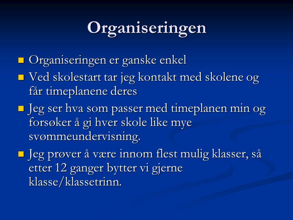 Organiseringen Organiseringen er ganske enkel
