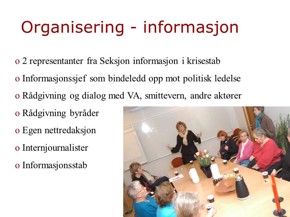 Organisering - informasjon