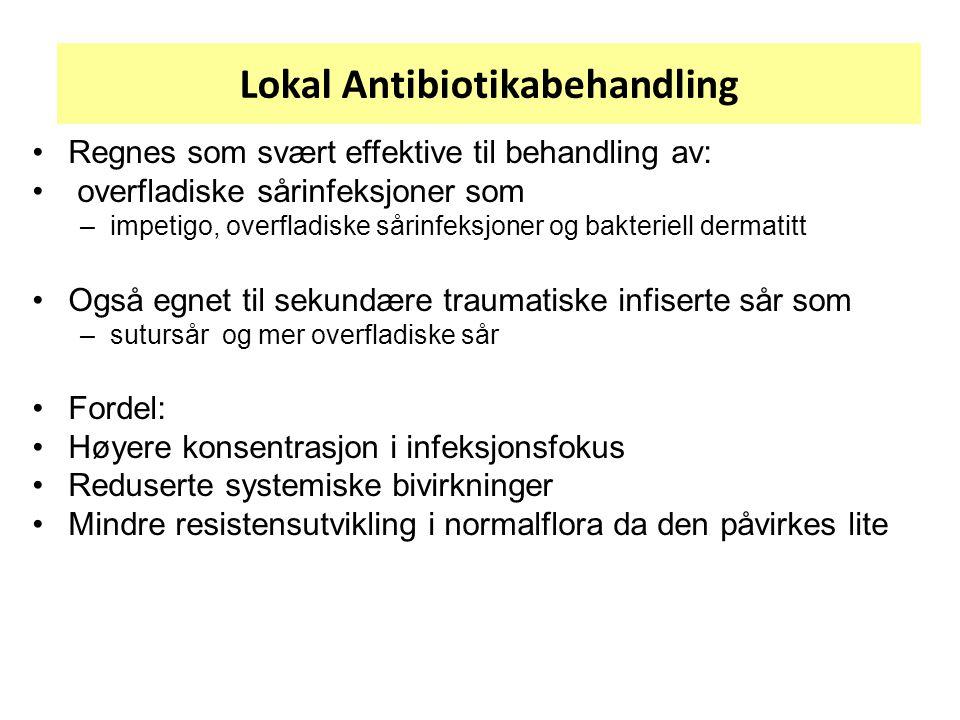 Lokal Antibiotikabehandling