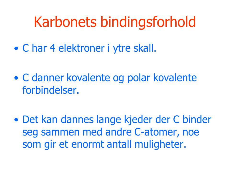 Karbonets bindingsforhold