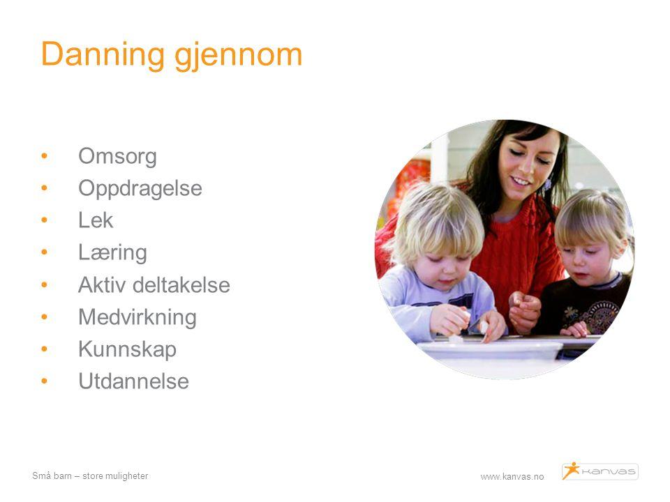 Danning gjennom Omsorg Oppdragelse Lek Læring Aktiv deltakelse